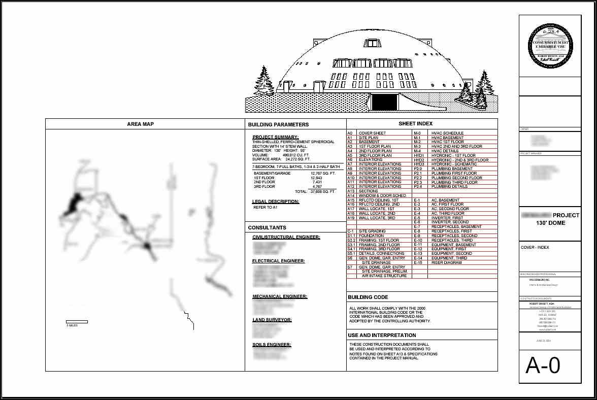 Architects drawing issue sheet