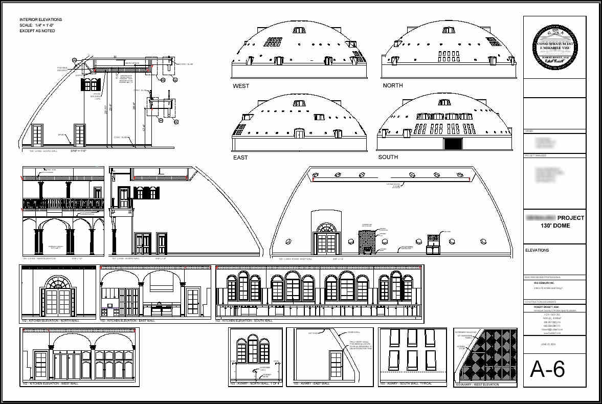 Concrete dome house plans for Concrete home floor plans