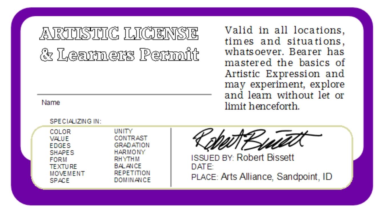 Artistic License #