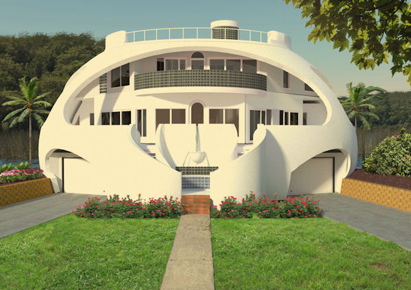 Dome of a Home with top deck