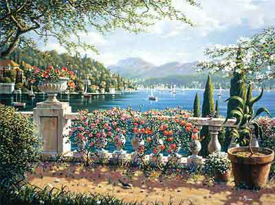 Terrace in Bellagio by Bob Pejman