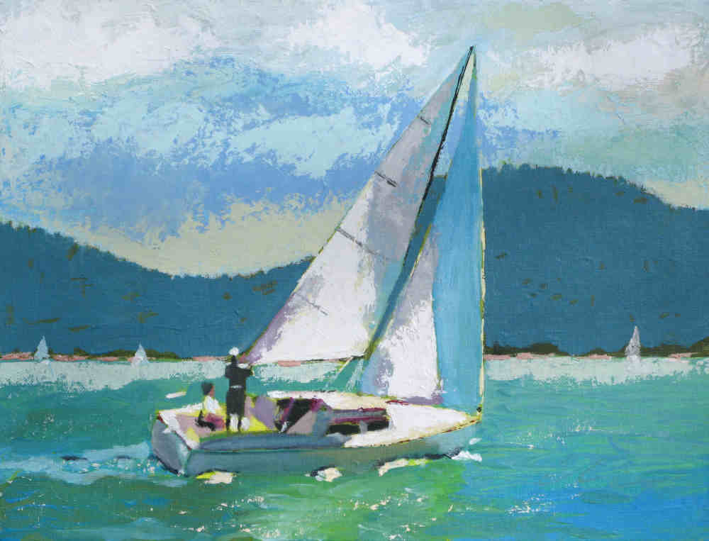 Pictures Painted Of Sailboats